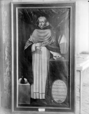 """""""Fray Bartolomé de Ledesma"""", obispo de Oaxaca, pintura al óleo"""