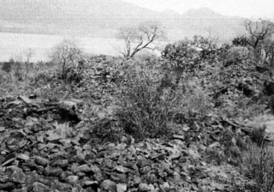Orilla de lago de Pátzcuaro, vista parcial