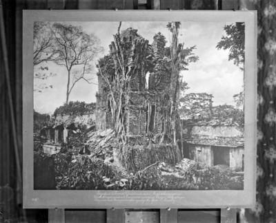 Torre del Palacio, antes de su reconstrucción, reprografía