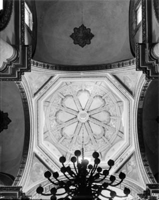 Cúpula de la catedral de Oaxaca, interior, vista parcial