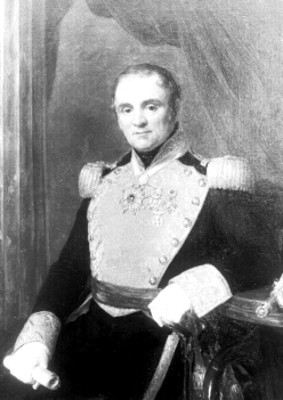 Antonio López de Santa Anna, pintura al óleo