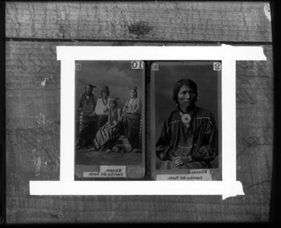 Hombres de la tribu Kicapoo de América del Norte, retratos