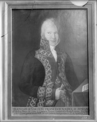Francisco Xavier de Venegas, militar, retrato al óleo