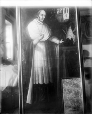 """""""Fray Vasco de Quiroga"""", retrato al óleo, reprografía"""
