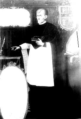 """""""Juan José de Eguiara y Eguren"""", retrato al óleo"""
