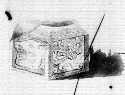 Cofre exhibido en el Antiguo Museo Nacional