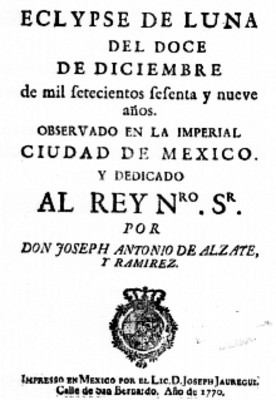 Libro Eclipse de luna del 12 de diciembre de 1772, portada