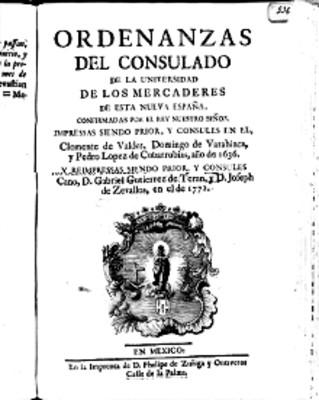 Libro Ordenanzas del consulado de la Universidad de los Mercaderes, portada