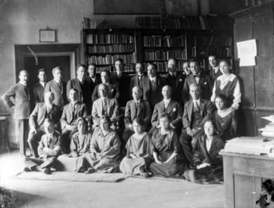 Empleados públicos, retrato de grupo