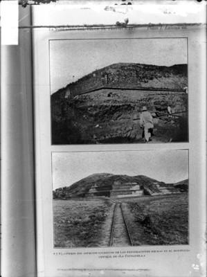 """""""Exploraciones hechas en el montículo central de la Ciudadela"""", reprografía"""