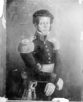 Vicente Guerrero, retrato al óleo