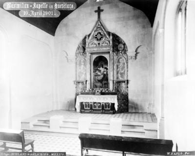 Altar en la capilla del cerro de las campanas