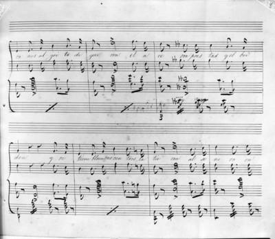 Partitura del Coro del himno Nacional Mexicano