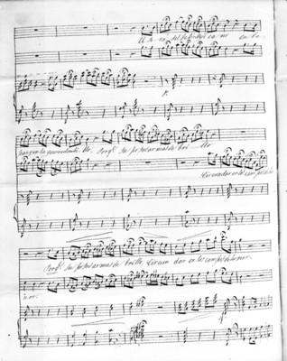 Estrofa IV del Himno Nacional Mexicano versión original, partitura