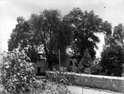 Vista parcial de la Casa Alvarado actualmente Fonoteca Nacional, Coyoacán ciudad de México