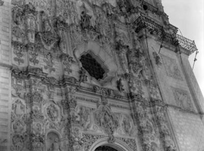 Portada del Templo de San Francisco Javier, detalle