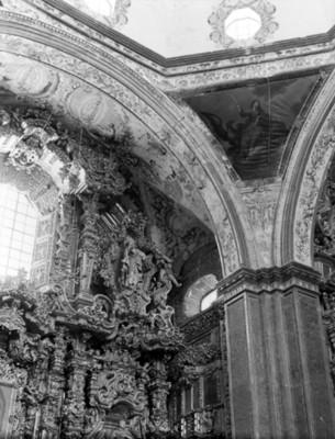 Detalle de retablo en el Templo de San Francisco Javier