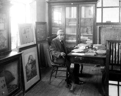 Manuel de la Parra, empleado del Museo Nacional, retrato