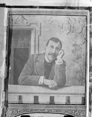 Hombre, retrato al óleo