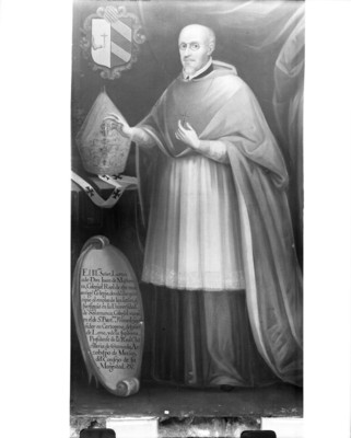 """""""Juan de Mañozca"""", arzobispo, pintura al óleo"""