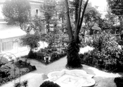 Jardín de Palacio Nacional, vista parcial