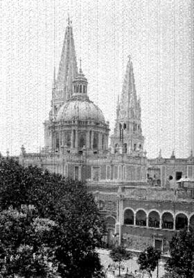 Catedral de Guadalajara, vista parcial