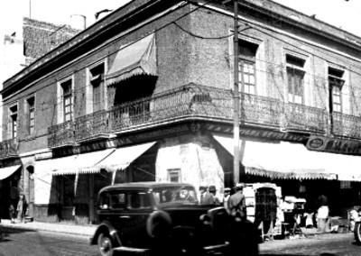 Vista parcial de la casa donde se instaló el primer telégrafo