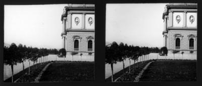 Mansión, fachada, vista parcial