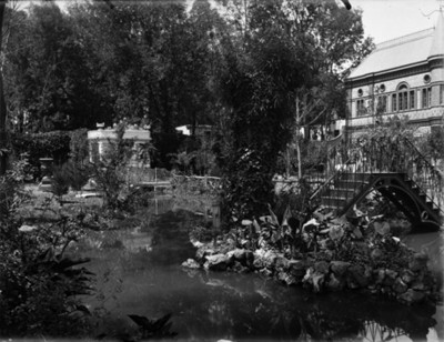Estanque de la casa Azurmendi, vista parcial