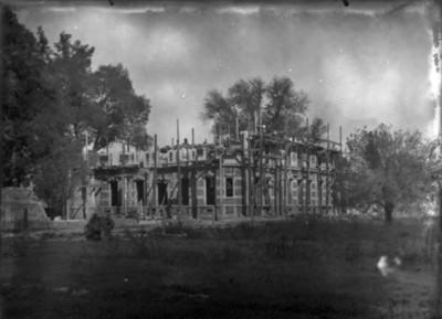 Casa de Azurmendi en construcción, vista parcial