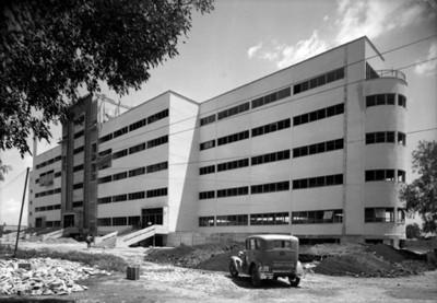 Hospital durante proceso constructivo