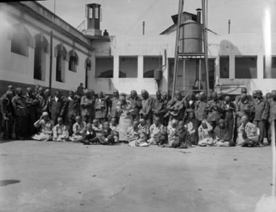 Enfermos del Hospital psiquiátrico de La Castañeda, retrato de grupo