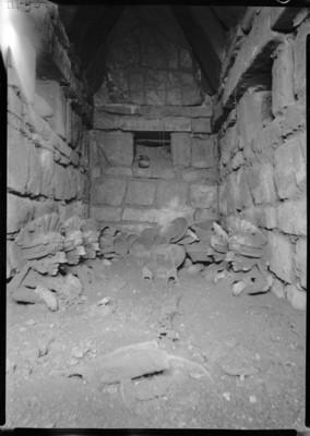 Vista del interior de la Tumba 40 de Monte Albán