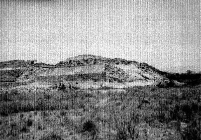 Montículo reconstruido, lado oeste