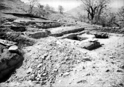 Montículo de la Tumba 58, patio con aposentos