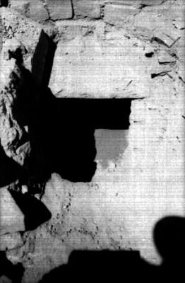 Tumba, detalle de la entrada