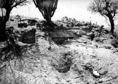 Tumba 7, antes de su excavación, vista parcial