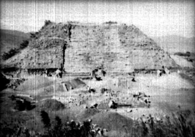Montículo M antes de la reconstrucción