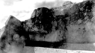 Los Danzantes, detalle conservado en el templo del Sur