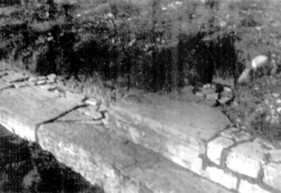 Los Danzantes. Escalones del 1er. templo de los Danzantes. 1-71