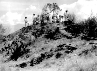 Sistema 7 venado montículo norte 7 antes de la exploración