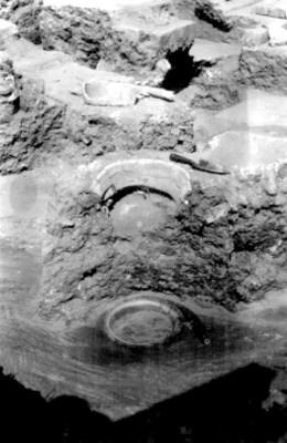Montículo de la T. 125 Tlecuiles en el cuarto del Sur correspondiente al 3 y 4 estuco