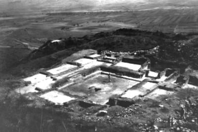"""""""IX Atzompa, Vista general del Edificio del Patio de los tableros"""""""