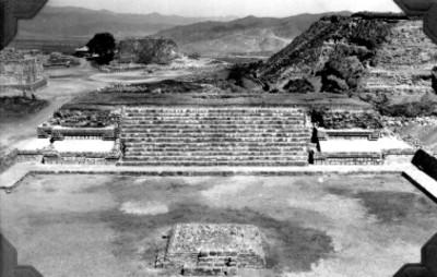 Montículo O reconstruido, lado oeste, panorámica