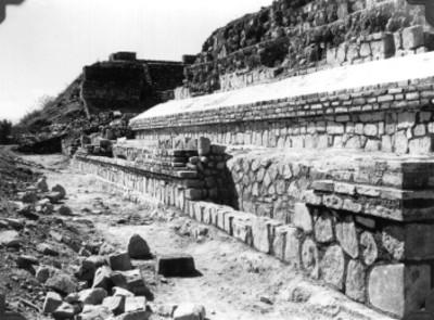 Montículo O reconstruido, lado sur