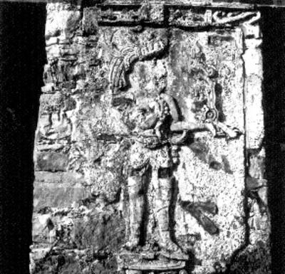 Templo de las Inscripciones, Pilasta después de ser intervenida