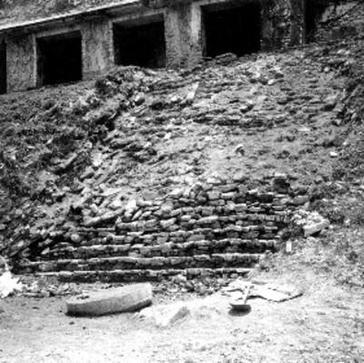Trabajos de restauración en la escalera de El Palacio