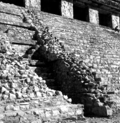 Arquitectura prehispánica, vista parcial