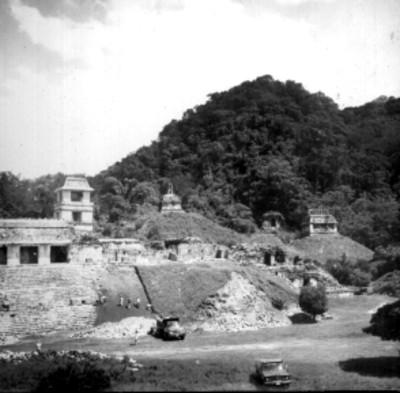 Zona arqueológica en reconstrucción