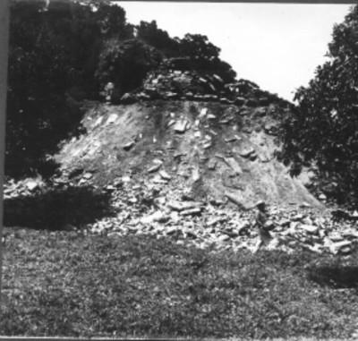 Hombres realizan trabajos de excavación en el Templo 14